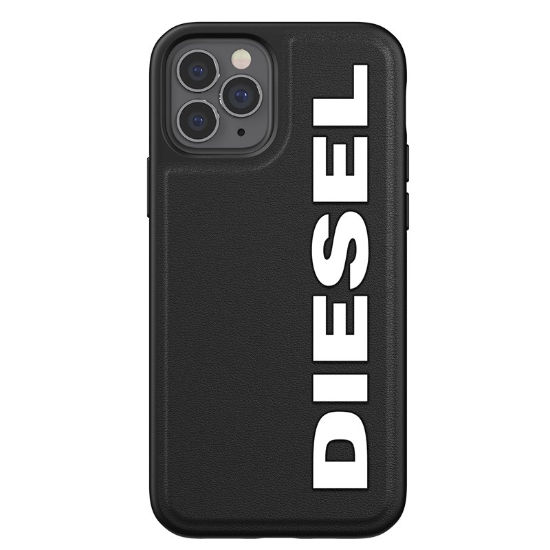 Diesel Moulded Case iPhone 12 en iPhone 12 Pro zwart/wit logo 04