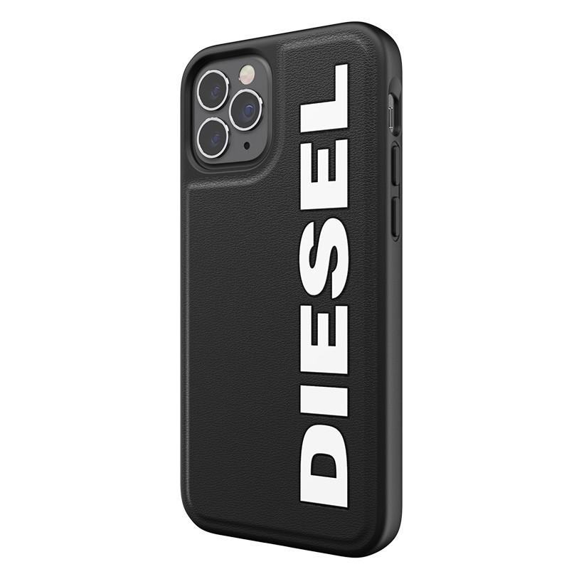Diesel Moulded Case iPhone 12 en iPhone 12 Pro zwart/wit logo 02