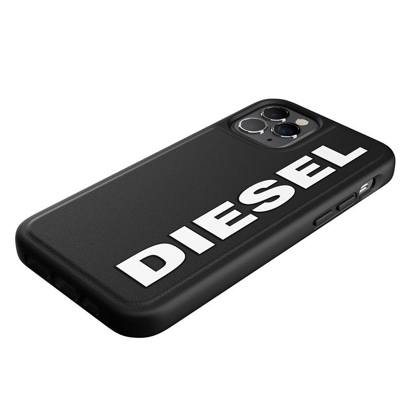 Diesel Moulded Case iPhone 12 en iPhone 12 Pro zwart/wit logo 06