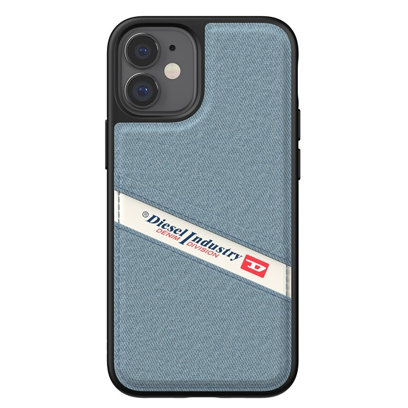 Diesel Moulded Case iPhone 12 Mini wit/blauw/zwart barcode 07