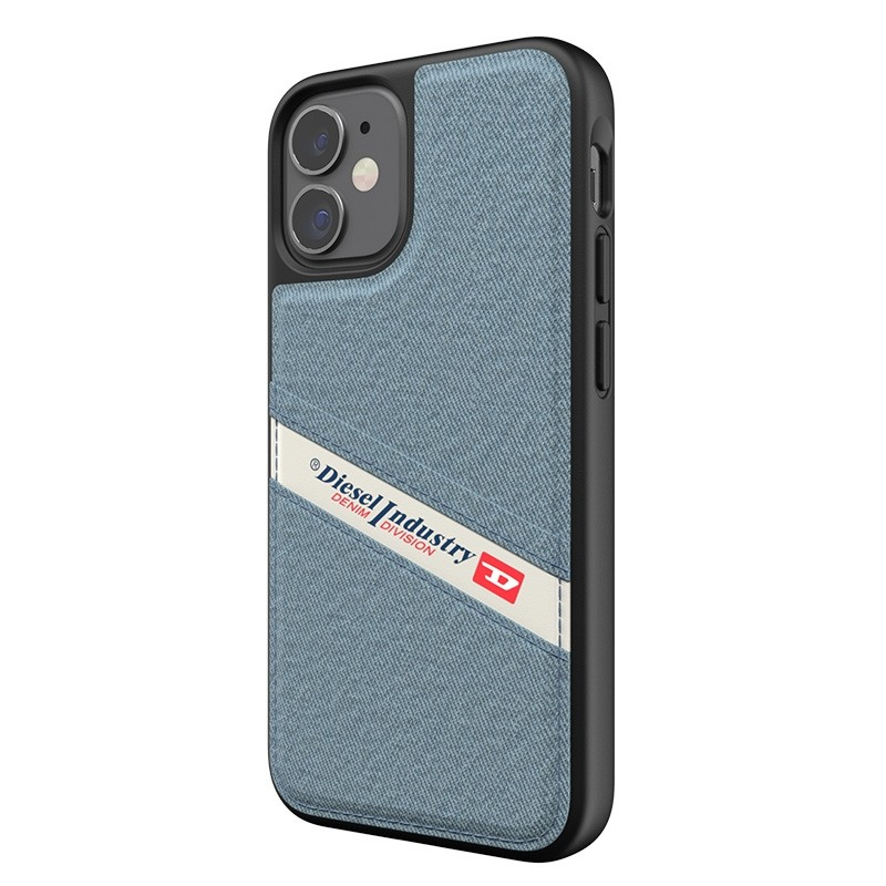 Diesel Moulded Case iPhone 12 Mini wit/blauw/zwart barcode 06