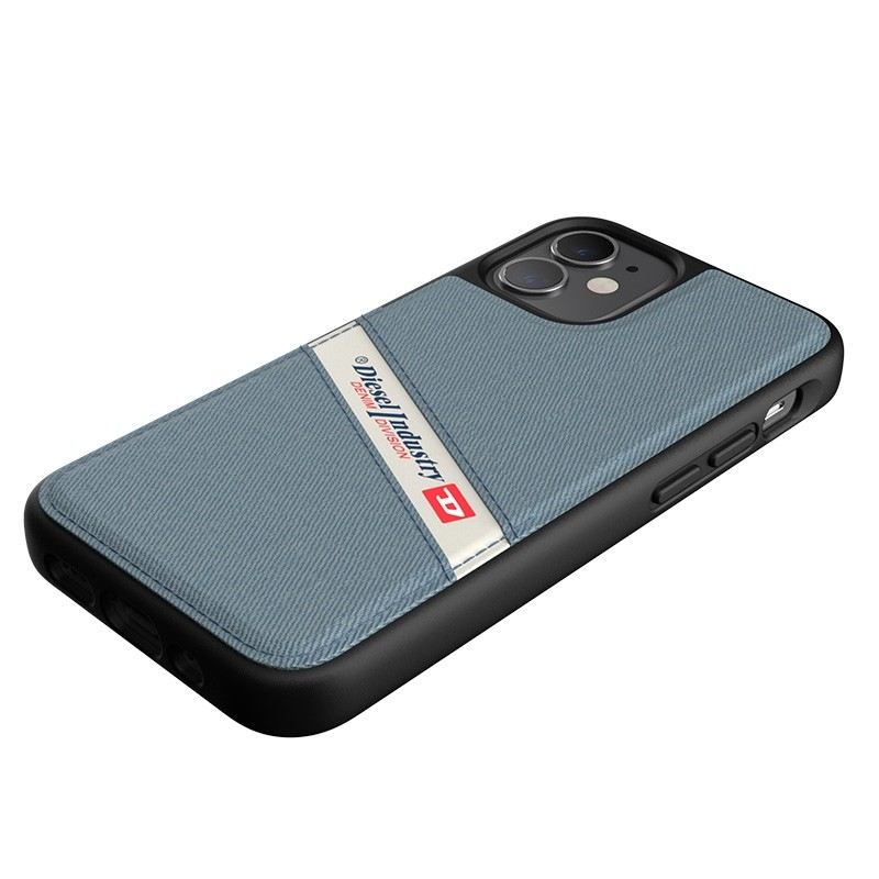 Diesel Moulded Case iPhone 12 Mini wit/blauw/zwart barcode 02