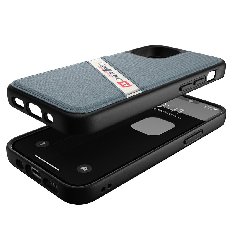 Diesel Moulded Case iPhone 12 Mini wit/blauw/zwart barcode 03