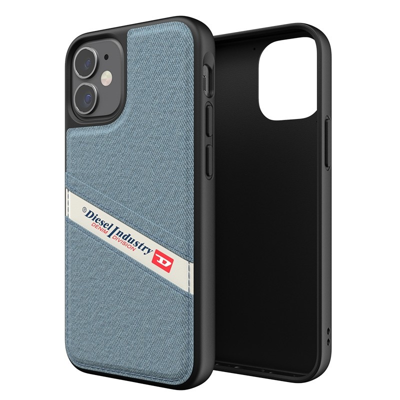 Diesel Moulded Case iPhone 12 Mini wit/blauw/zwart barcode 05