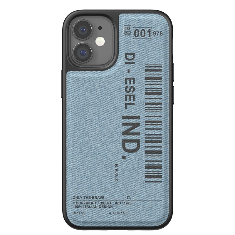 Diesel Moulded Case iPhone 12 Mini blauw/zwart barcode 02