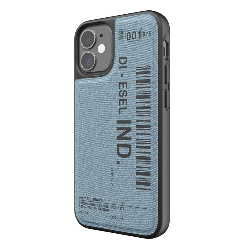 Diesel Moulded Case iPhone 12 Mini blauw/zwart barcode 04