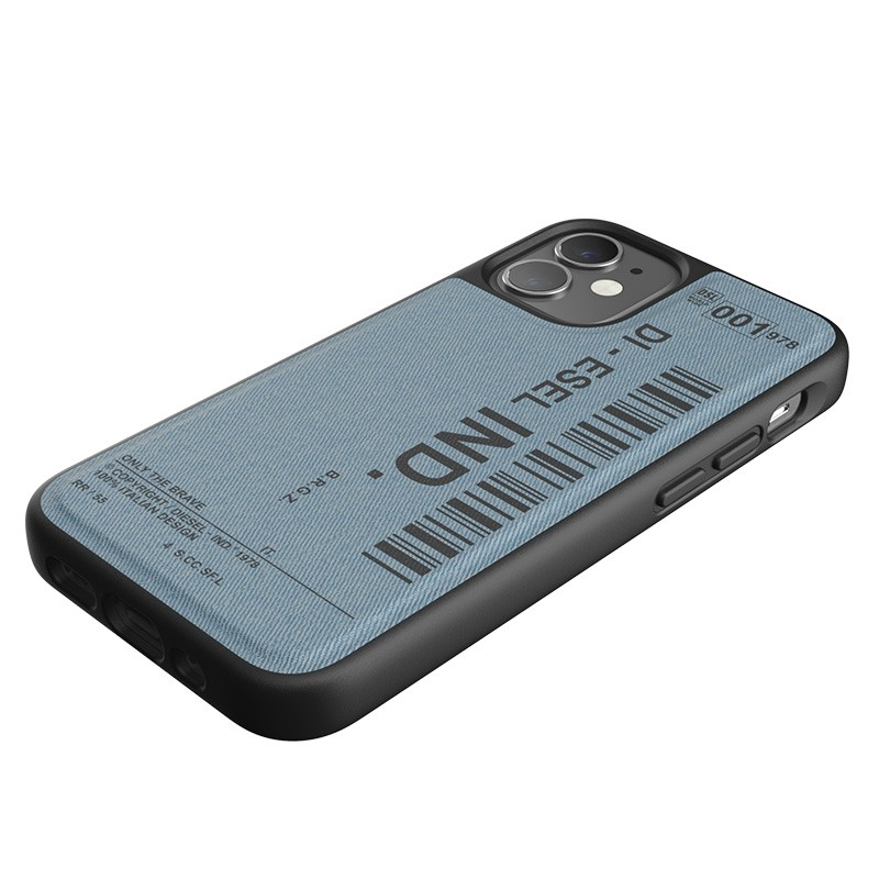 Diesel Moulded Case iPhone 12 Mini blauw/zwart barcode 05