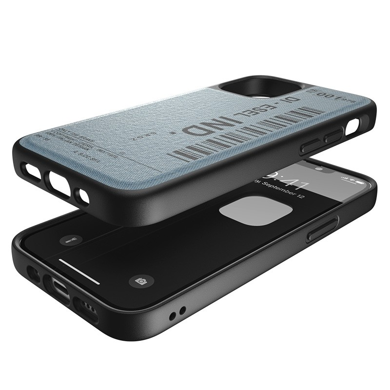 Diesel Moulded Case iPhone 12 / 12 Pro 6.1 blauw barcode 06
