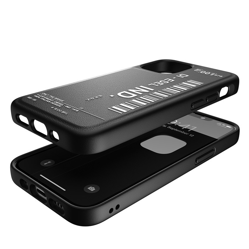 Diesel Moulded Case iPhone 12 Mini zwart/wit 03