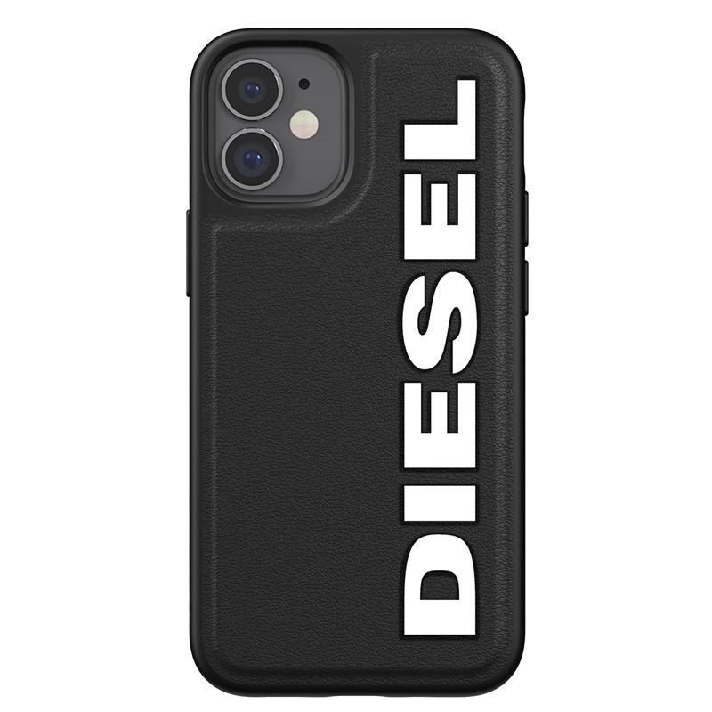 Diesel Moulded Case iPhone 12 Mini zwart/wit logo 05