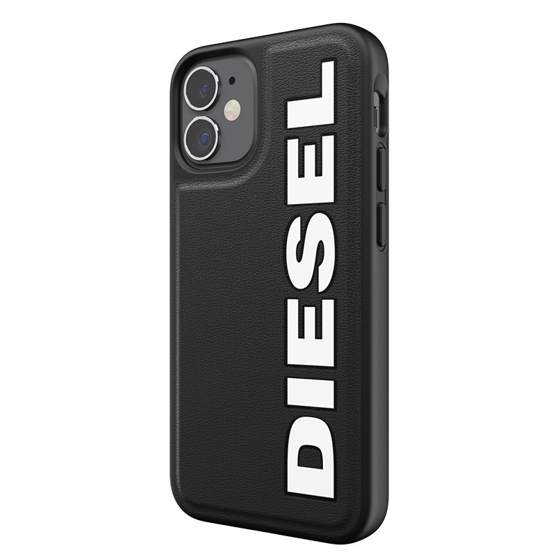 Diesel Moulded Case iPhone 12 Mini zwart/wit logo 02