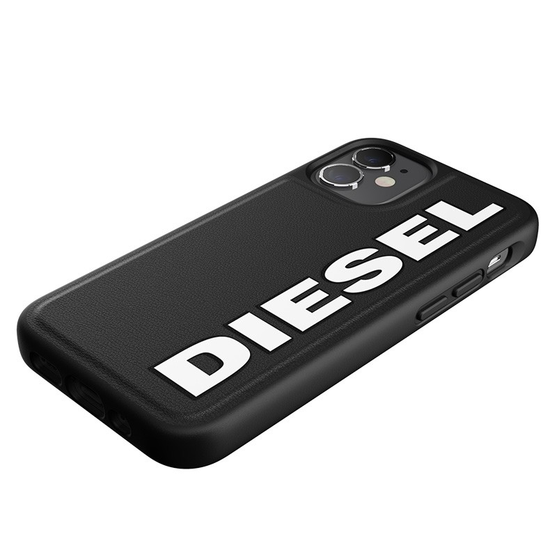 Diesel Moulded Case iPhone 12 Mini zwart/wit logo 06