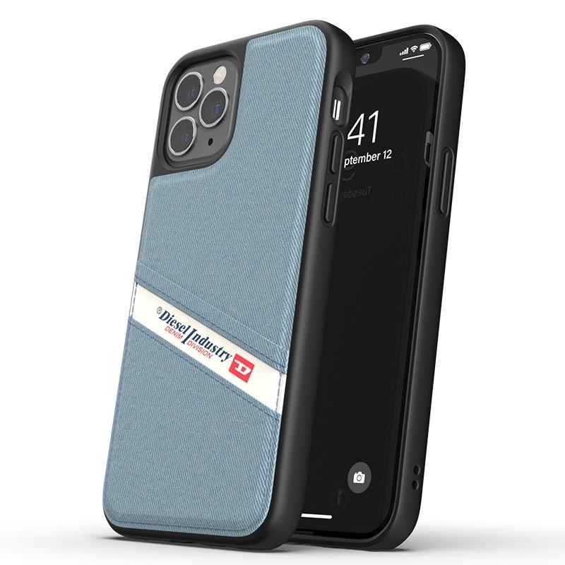 Diesel - Moulded Case iPhone 12 / 12 Pro 6.1 blauw/wit/zwart 01