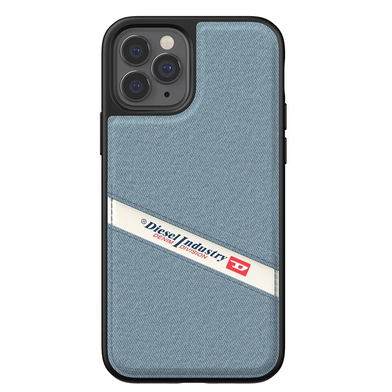 Diesel - Moulded Case iPhone 12 / 12 Pro 6.1 blauw/wit/zwart 05
