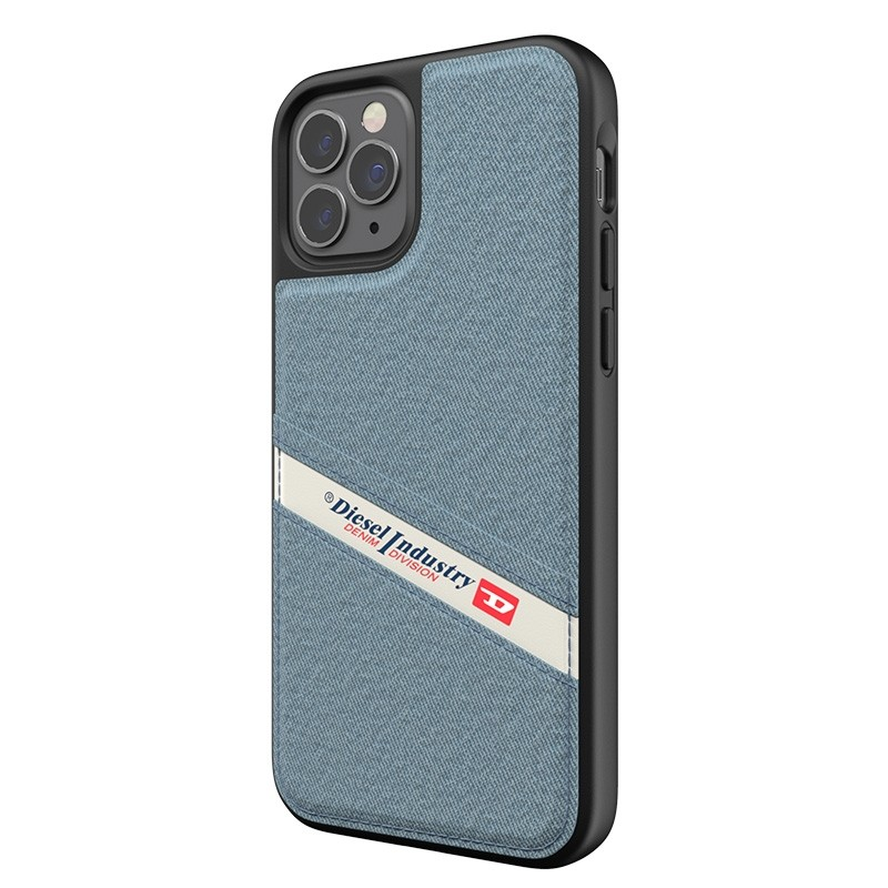 Diesel - Moulded Case iPhone 12 / 12 Pro 6.1 blauw/wit/zwart 02