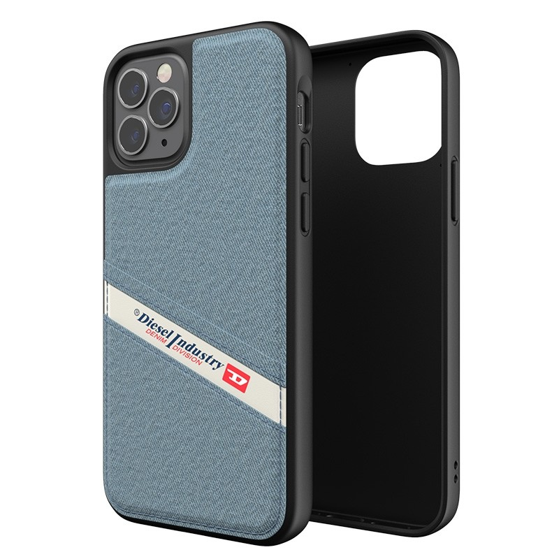 Diesel - Moulded Case iPhone 12 / 12 Pro 6.1 blauw/wit/zwart 06
