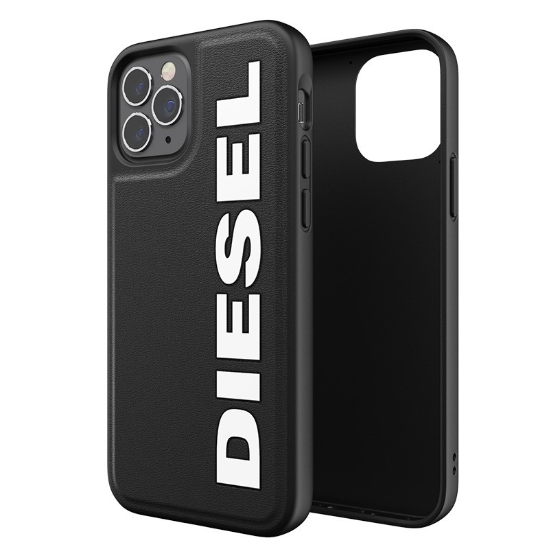 Diesel Moulded Case iPhone 12 Pro Max zwart/wit logo 03