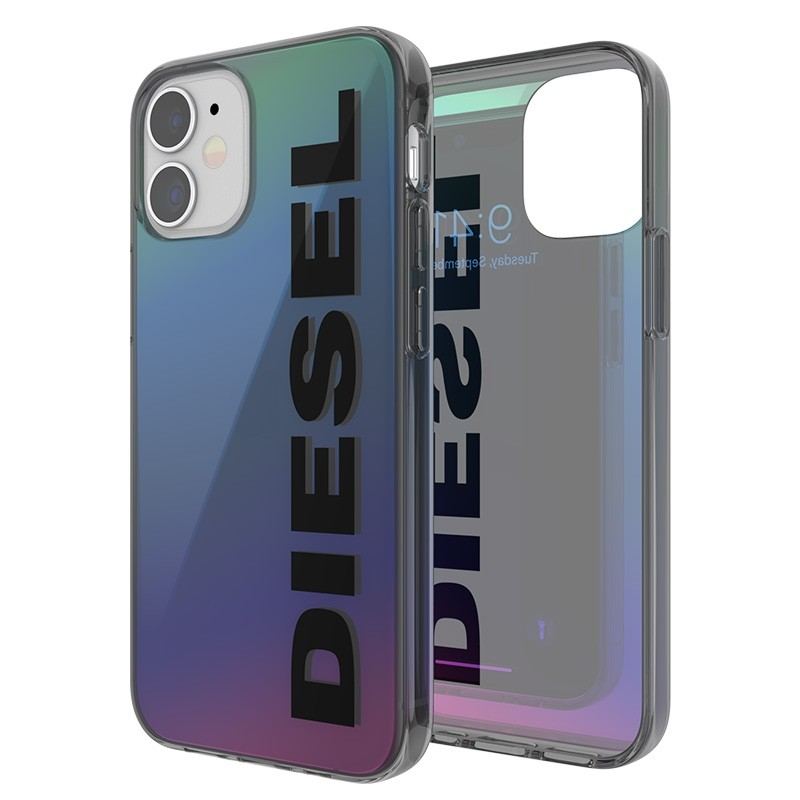 Diesel Snap Case Clear iPhone 12 Mini 5.4 Holo Logo 06