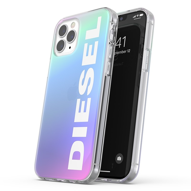 Diesel Snap Case Clear iPhone 12 Pro Max Holo Logo 01