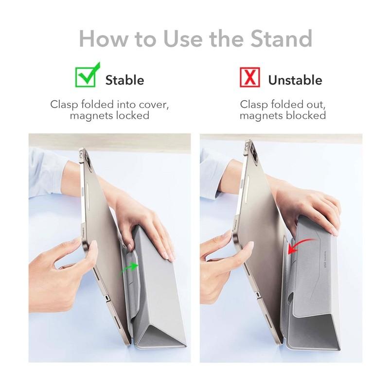 ESR Ascent Trifold Case iPad Pro 12.9 inch (2021) Roze - 2