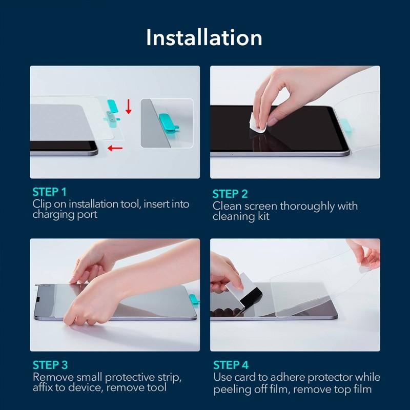 ESR Paper Feel Screenprotector iPad Pro 12.9 (2021/2020/2018) - 6