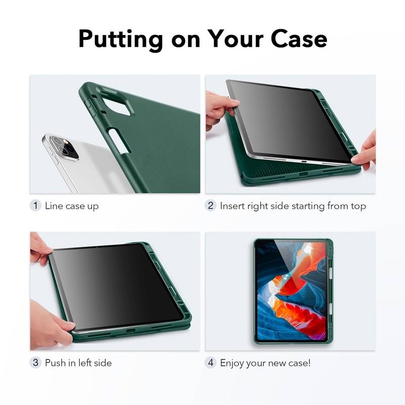 ESR - Rebound Pencil Case iPad Pro 12.9 inch (2021) Groen - 8