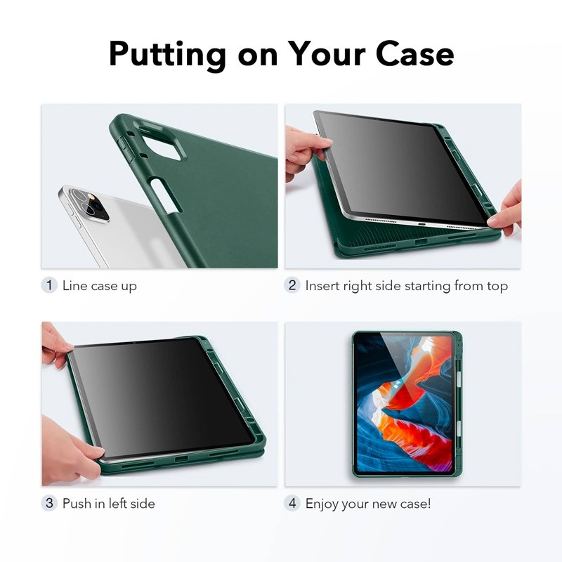 ESR - Rebound Pencil Case iPad Pro 12.9 inch (2021) Mintgroen - 8