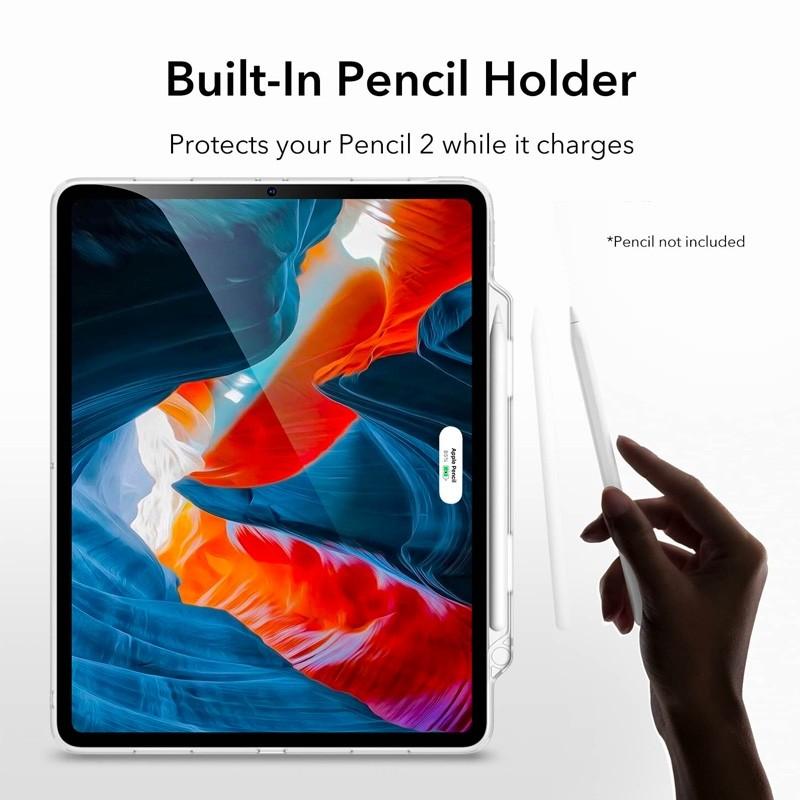 ESR Project Zero Pencil Backcover iPad Pro 12.9 inch (2021) Transparant - 7