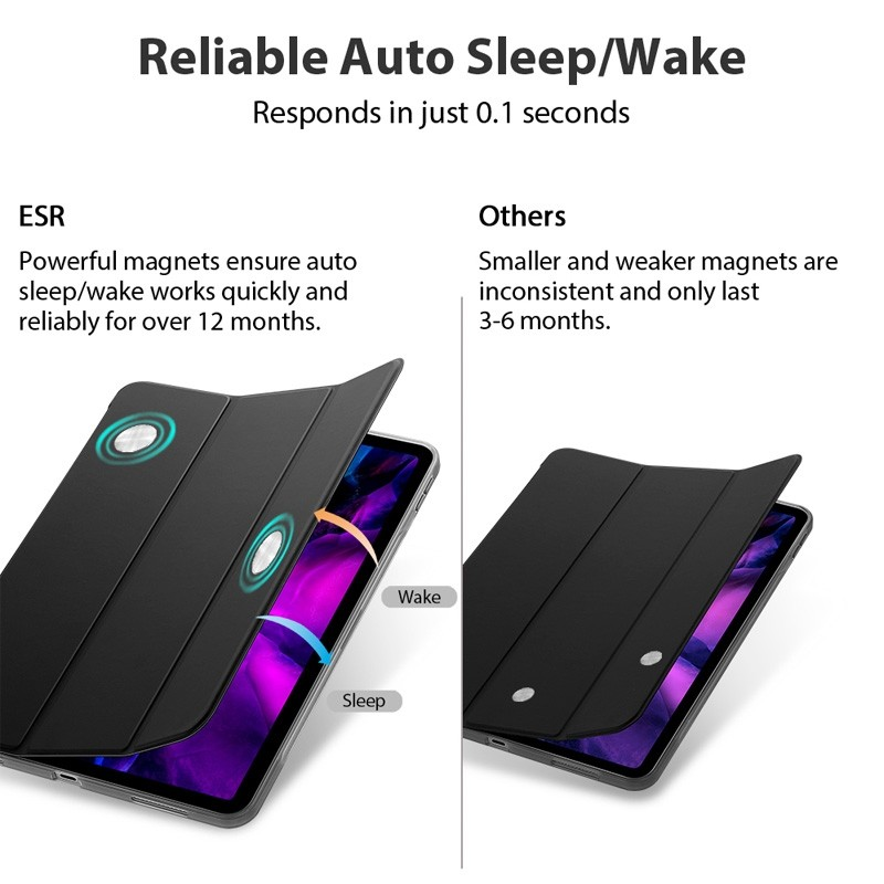 ESR Rebound Slim Case iPad Pro 11 inch (2020) Zwart - 9