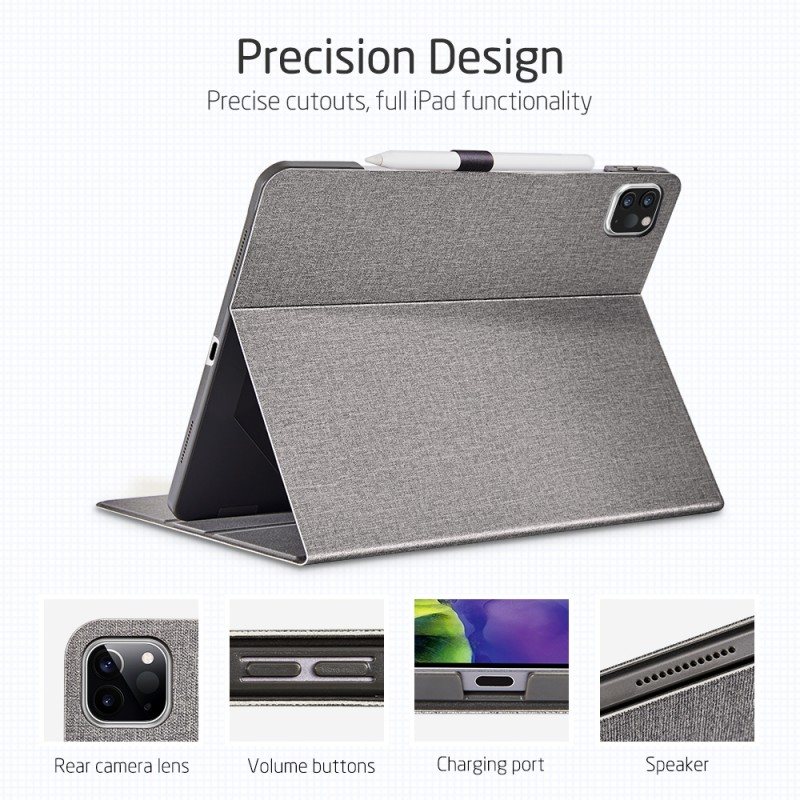 ESR Premium Folio iPad Pro 11 inch (2020) grijs - 3