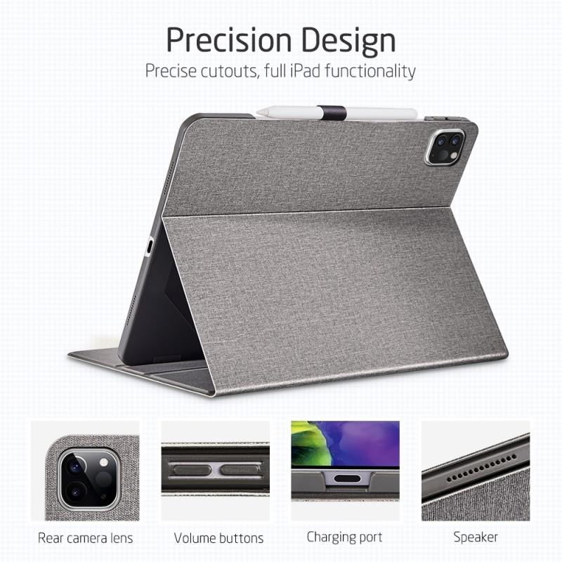 ESR Premium Folio iPad Pro 12.9 inch (2020) Grijs - 4