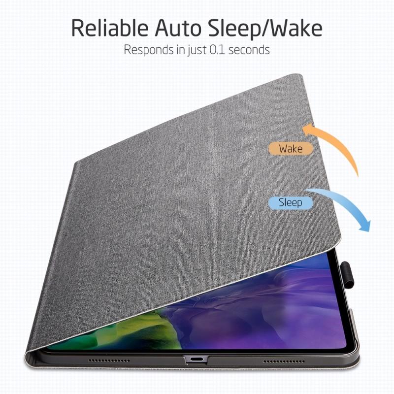 ESR Premium Folio iPad Pro 12.9 inch (2020) Grijs - 5