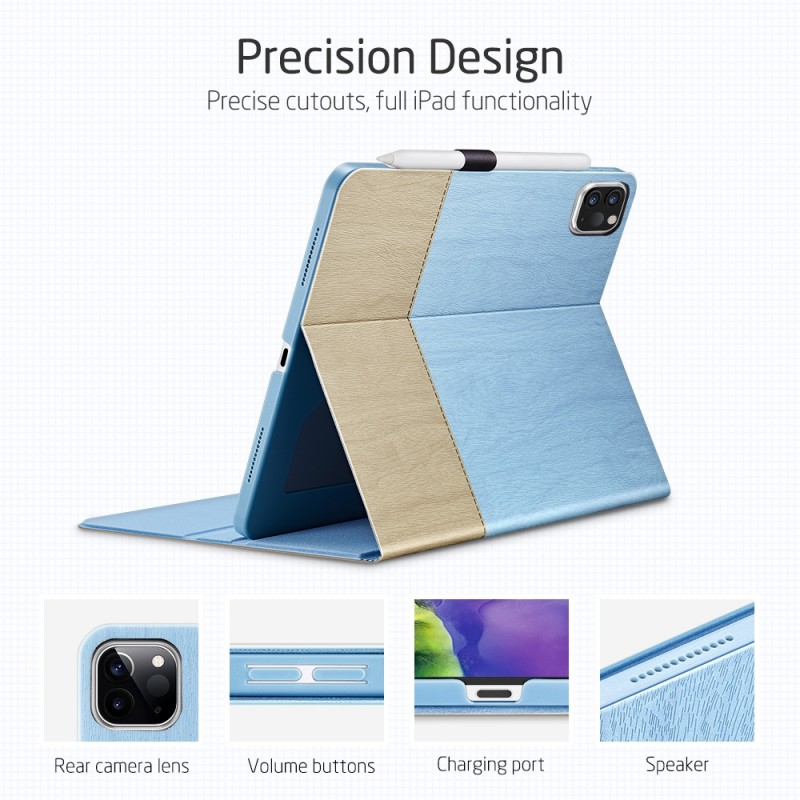 ESR Premium Folio iPad Pro 12.9 inch (2020) Lichtblauw - 4