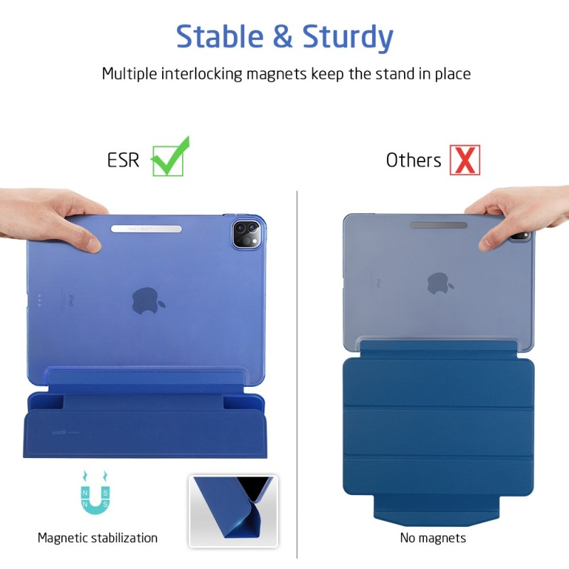 ESR Yippee Case iPad Pro 12.9 inch (2020) Blauw - 9