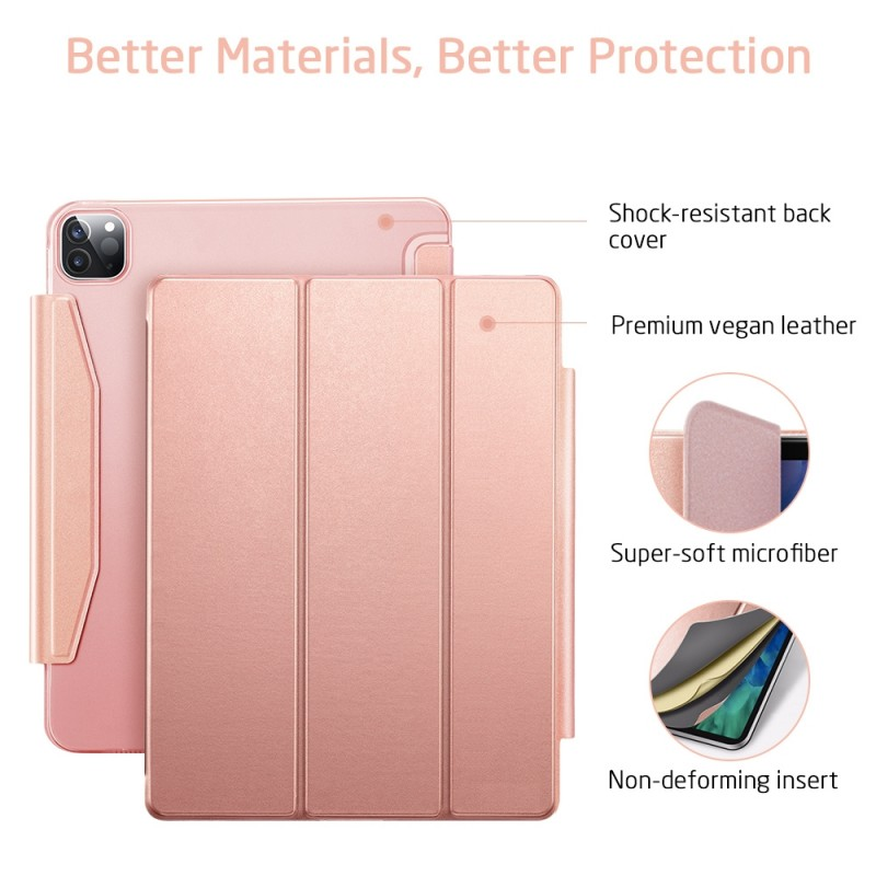 ESR Yippee Case iPad Pro 12.9 inch (2020) Roze - 6