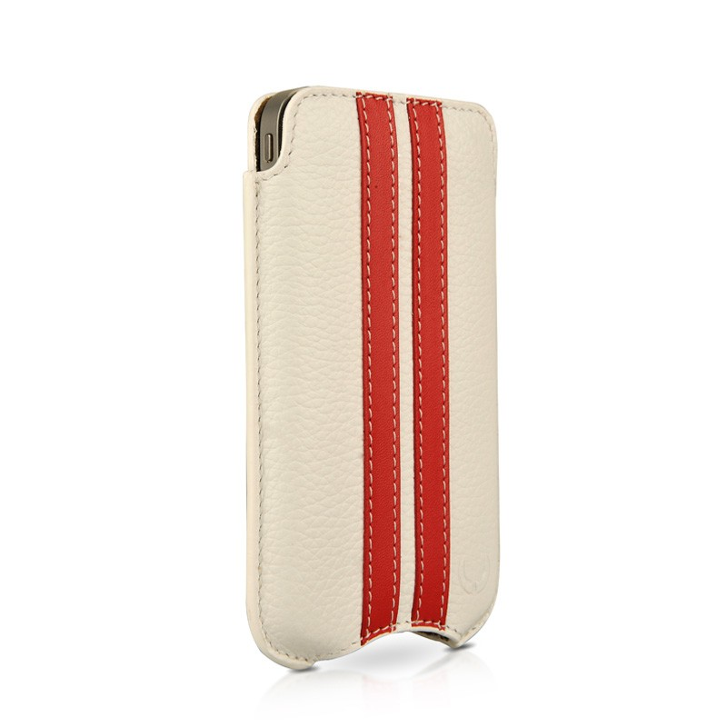 Beyzacases SlimLine Stripes iPhone 4(S) (white/red) 01