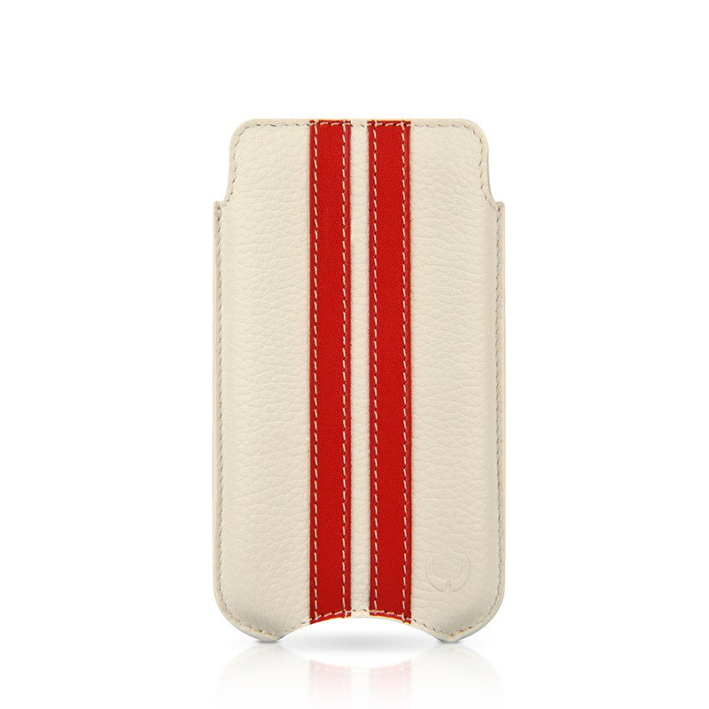 Beyzacases SlimLine Stripes iPhone 4(S) (white/red) 02