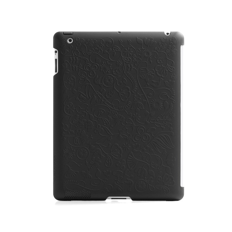 Bluelounge Shell Floral iPad Black 01