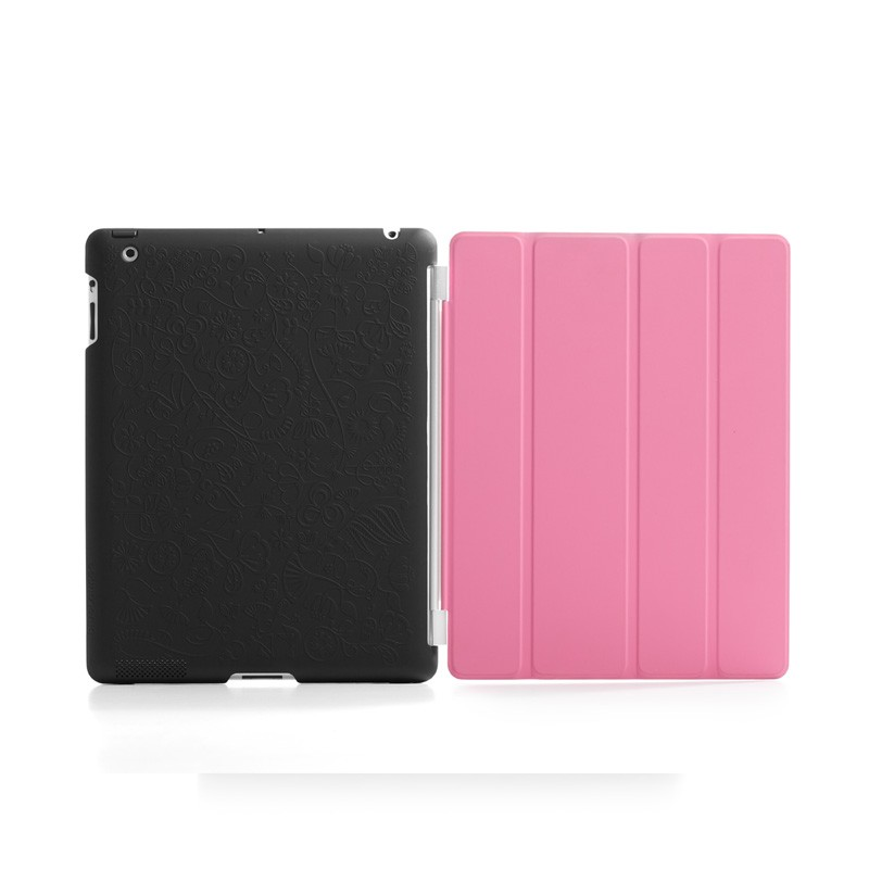 Bluelounge Shell Floral iPad Black 02