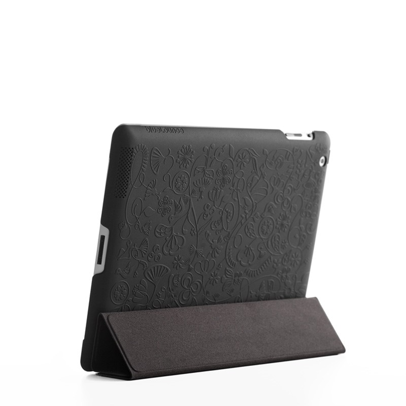 Bluelounge Shell Floral iPad Black 03