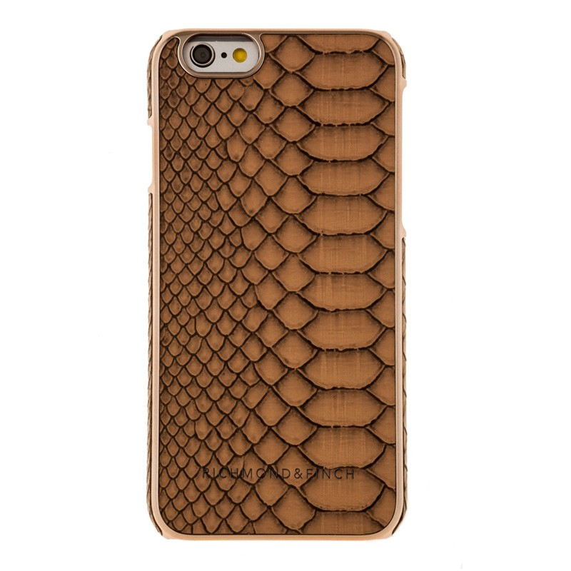 Richmond & Finch Framed Rosé iPhone 6 / 6S Coffee Reptile - 1