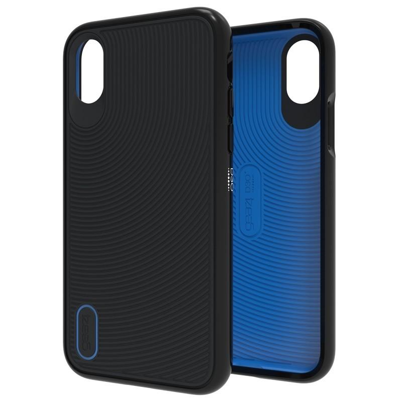 Gear4 Battersea iPhone X/Xs Hoesje Black/Blue 01