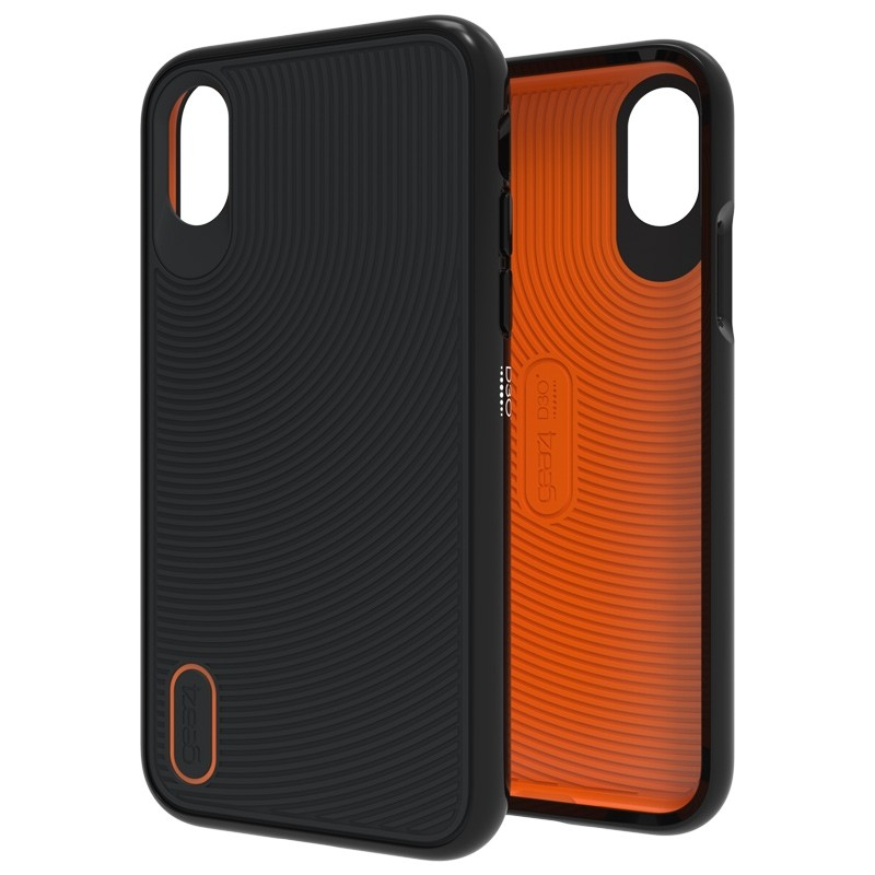 Gear4 Battersea iPhone X/Xs Hoesje Black/Orange 01