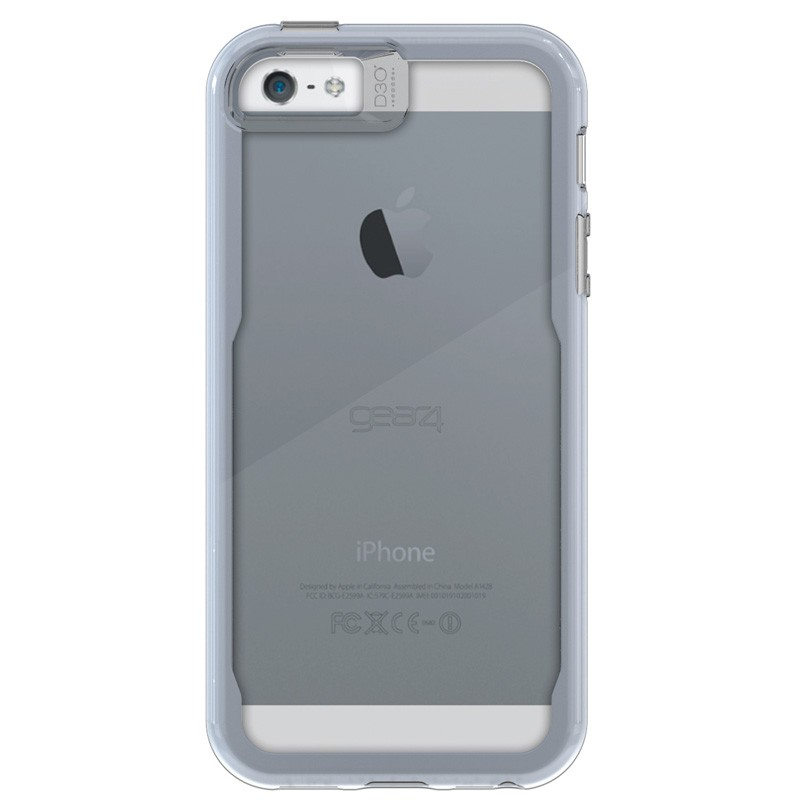 Gear4 3DO JumpSuit Tone iPhone SE/5S/5 Silver/Clear - 3
