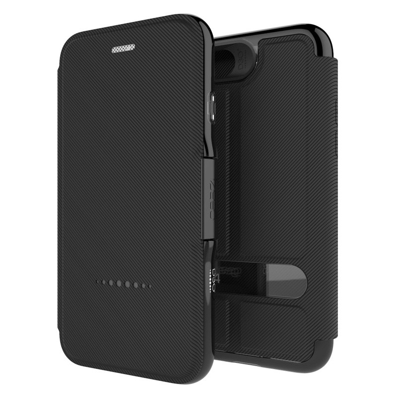 Gear4 Oxford Book Case iPhone 7 Black - 1