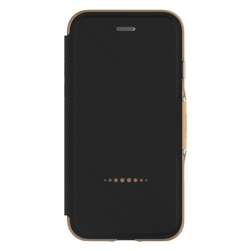 Gear4 Oxford Book Case iPhone 7 Black/ Gold - 4