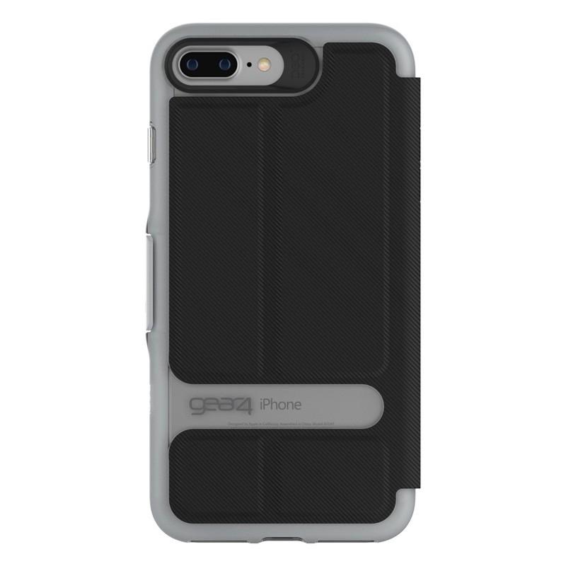 Gear4 Oxford Book Case iPhone 7 Black/Silver - 3