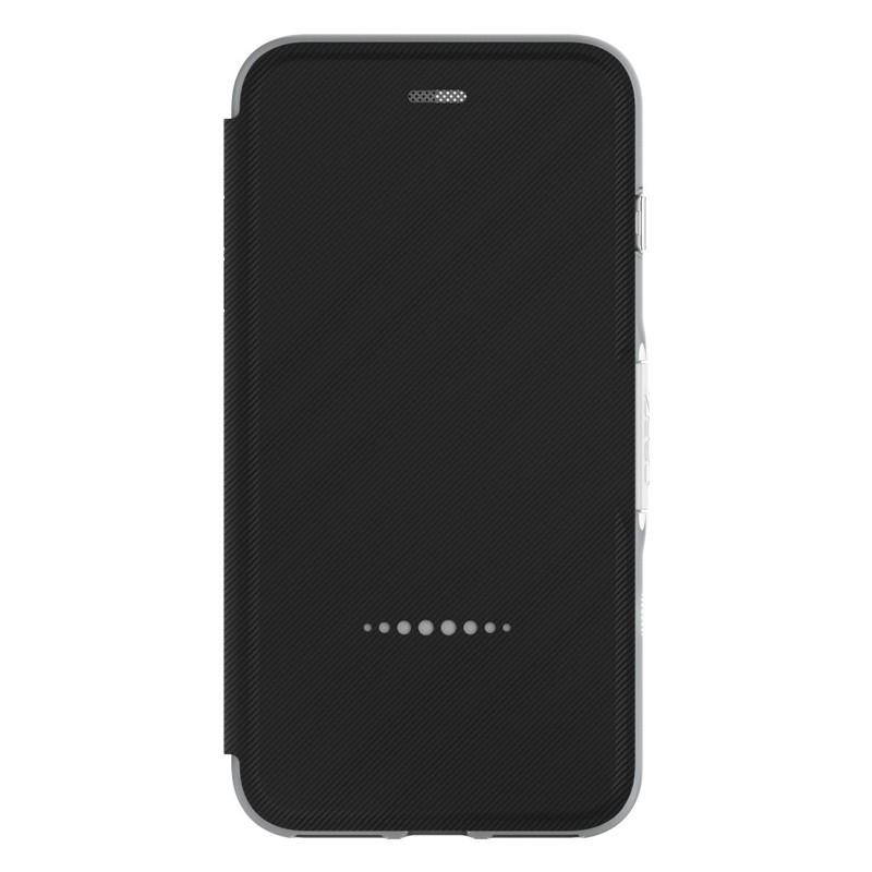 Gear4 Oxford Book Case iPhone 7 Black/Silver - 4