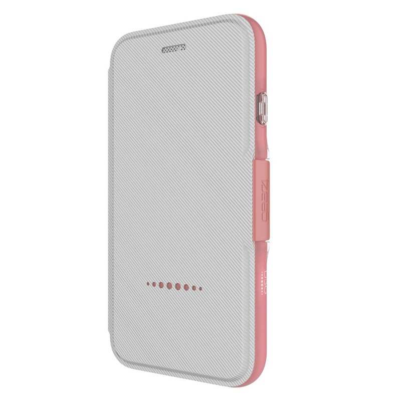 Gear4 Oxford Book Case iPhone 7 White/Pink - 2