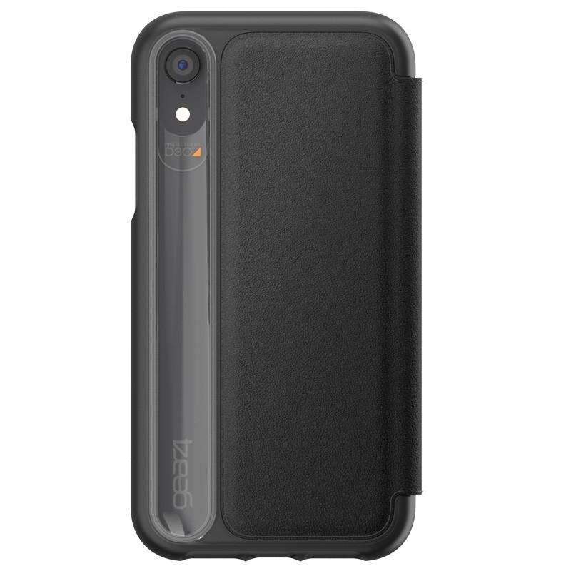 Gear4 Oxford Leather iPhone XR Lederen Hoesje Zwart 02